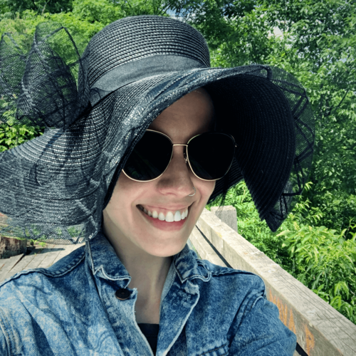 sun protection fashion floppy hat and jean jacket