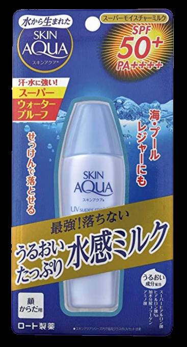 Rohto SKIN AQUA Super Moisture Milk SPF50 PA ++++ Sunscreen