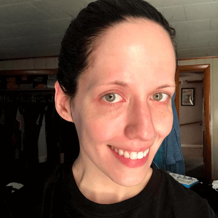 My Scheming Black Pearl sheet mask brightening results