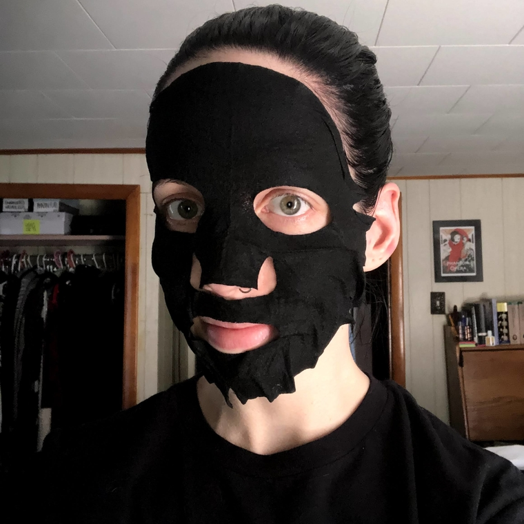 My Scheming Black Pearl Brightening Black Mask product test